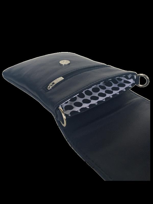 Unika taske i mørkeblå lammeskind - crossover mobiltaske - Skagen - Cosystyle