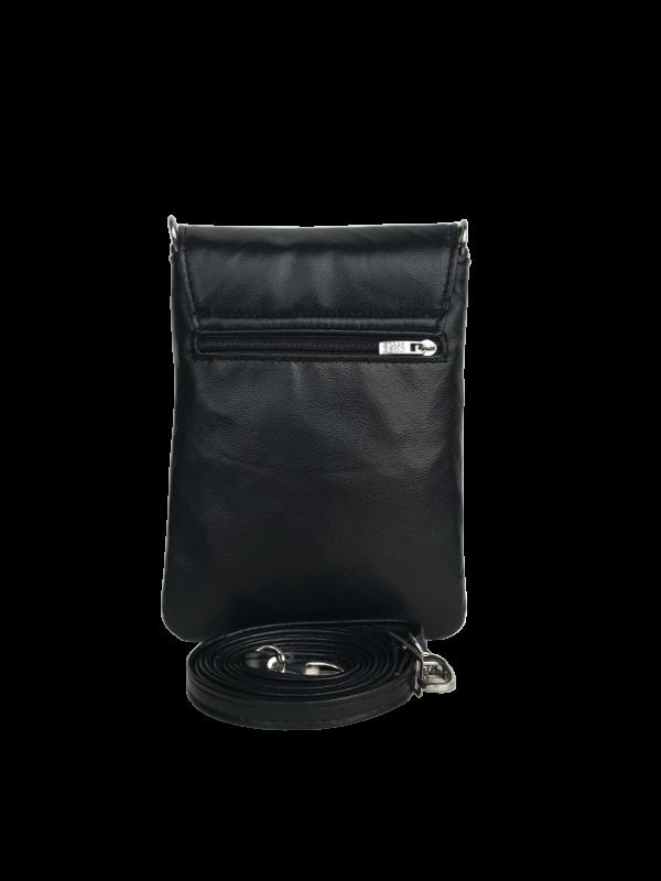 Mobiltaske i klassisk sort design - Super kvalitets skindtaske - Skagen - Cosystyle