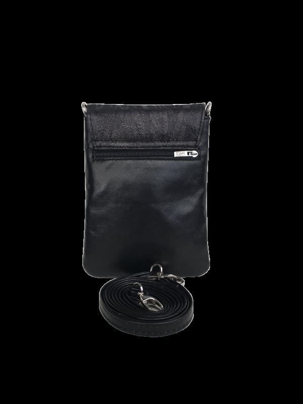 Unik skindtaske i lækkert sort lammeskind - skuldertaske - Skagen - Cosystyle