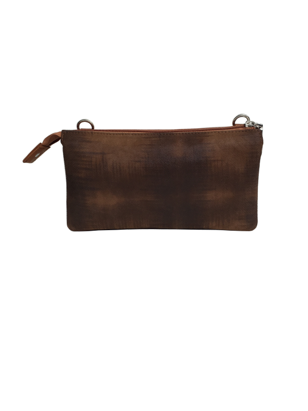 Cognac crossover clutch i lammeskind - Unikke tasker fra Cosystyle