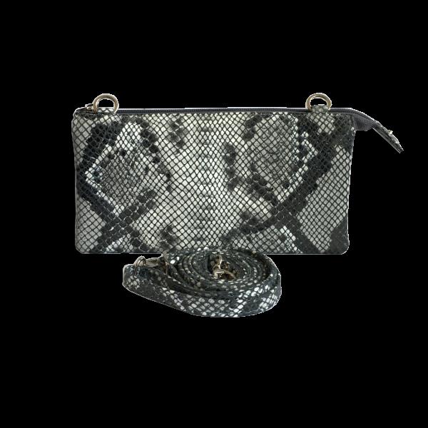 Unika taske - slangeskindstaske - crossover taske - skuldertaske i lammeskind - Cosystyle