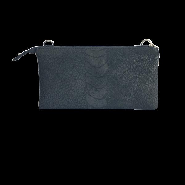 Elegant sort crossover unika taske i lammeskind - skuldertaske - Cosystyle