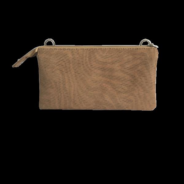 Smuk crossover clutch i blødt lammeskind - skindtaske - Cosystyle