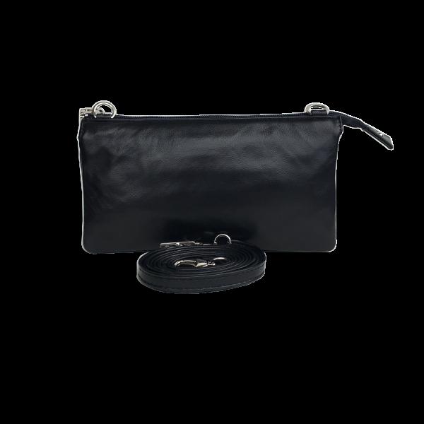 Kvalitets crossover clutch i lammeskind - smart lækker skuldertaske - Barcelona - Unikke tasker fra Cosystyle