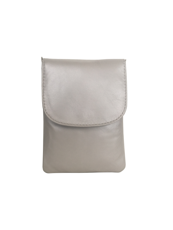 Hvid mobiltaske i lammeskind - Skuldertaske - Skagen Cosystyle