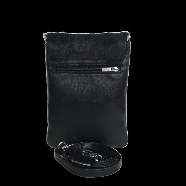 Mobiltaske med pels i lækker kvalitet - Sort unika taske model Skagen - Cosystyle
