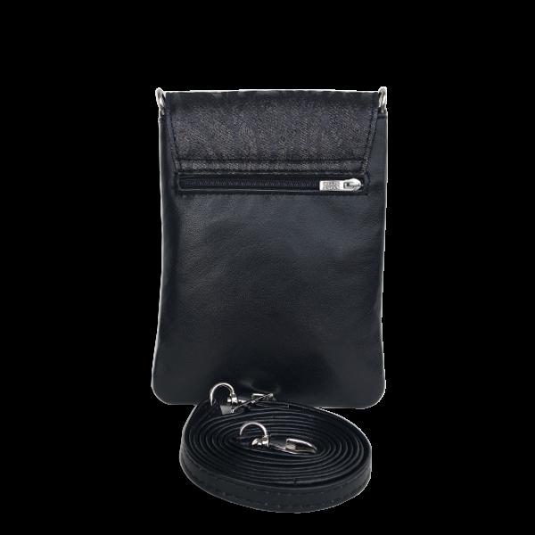 Sort funktionel mobiltaske i lækker kvalitet - skuldertaske - Skagen - Cosystyle