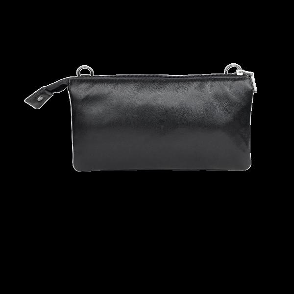Klassisk sort clutch i lammeskind-unika taske fra Cosystyle