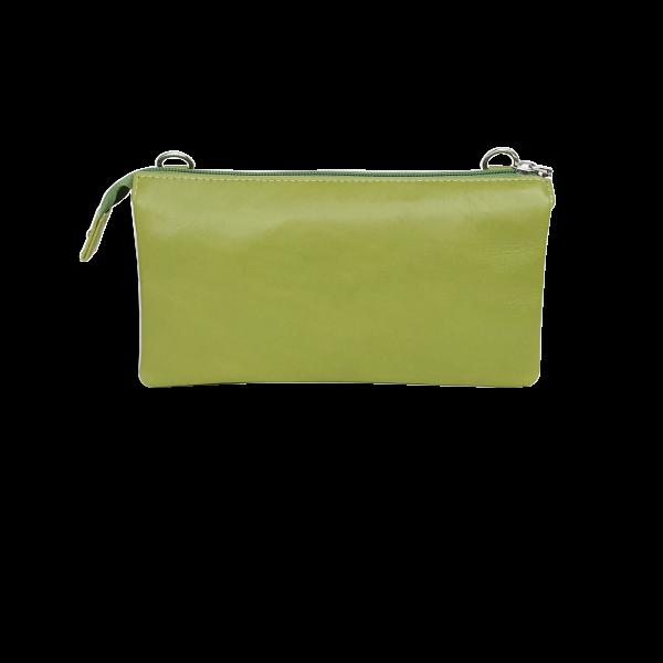 Grøn Crossover clutch i lækkert slammeskind - Unika taske fra Cosystyle