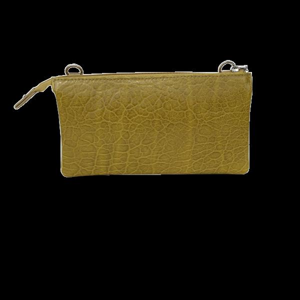 Flot crossover clutch i olivengrøn - Skindtaske i høj kvalitet - Unika taske fra Cosystyle