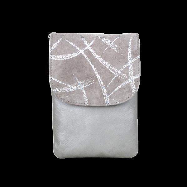 Grå mobiltaske i lækkert blødt skind - Unika taske fra Cosystyle