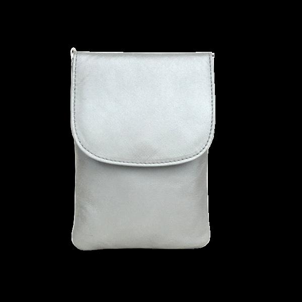 Flot mat grå mobiltaske i lammeskind - Unika taske fra Cosystyle