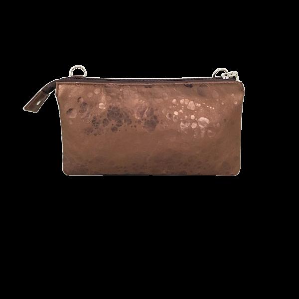 Bronze look i lammeskind - Unika crossover taske fra Cosystyle