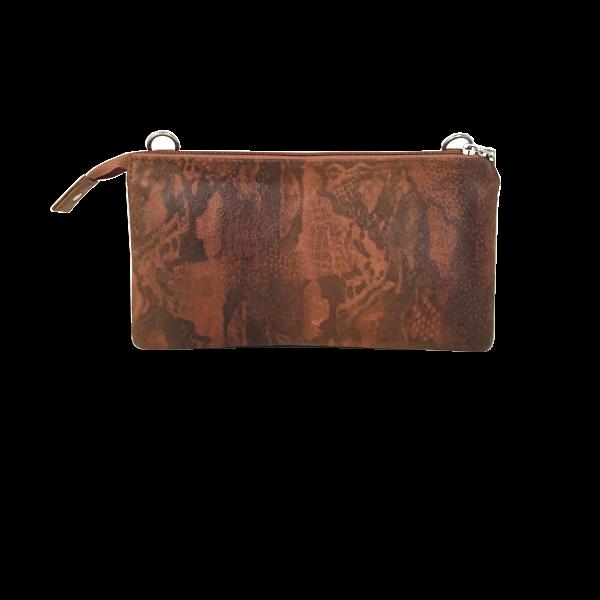Flot kvalitets clutch i cognac farvet lammeskind - Unika taske fra Cosystyle