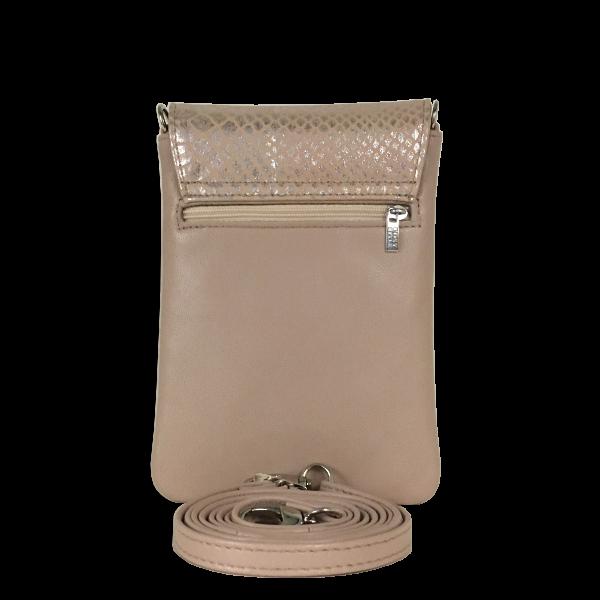Smuk beige mobiltaske i lammeskind - Unika taske fra Cosystyle