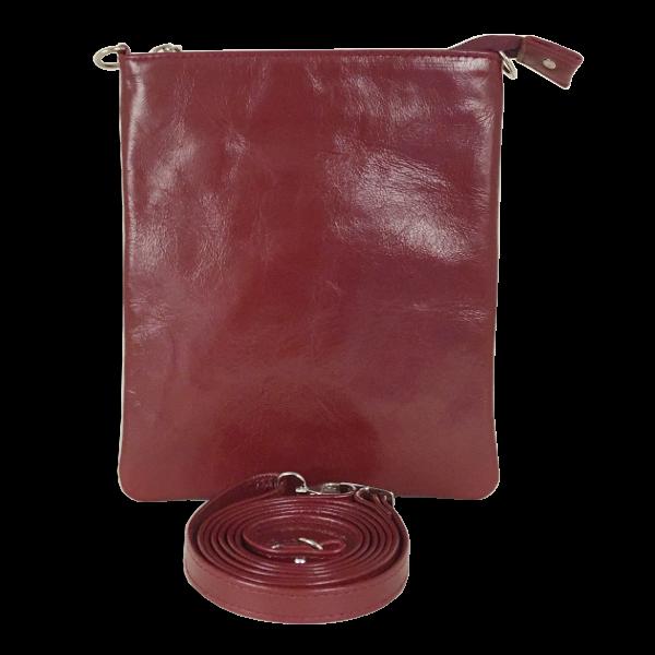 Elegant skuldertaske i rødt kalveskind - Unika taske fra Cosystyle