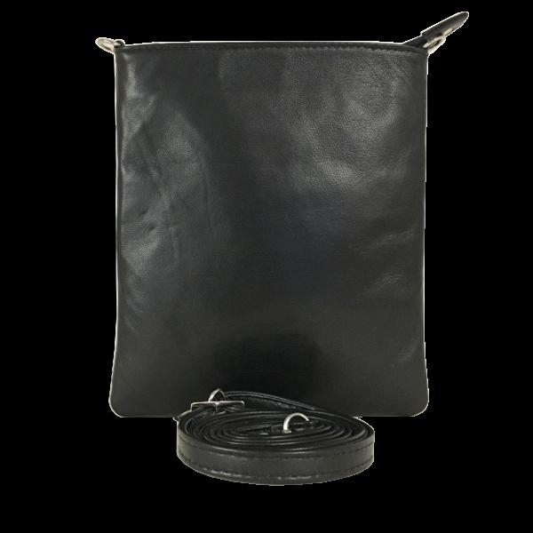 Elegant skuldertaske i sort lammeskind - Unika taske fra Cosystyle