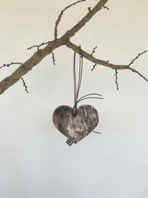 Læder Hjerte til dekoration