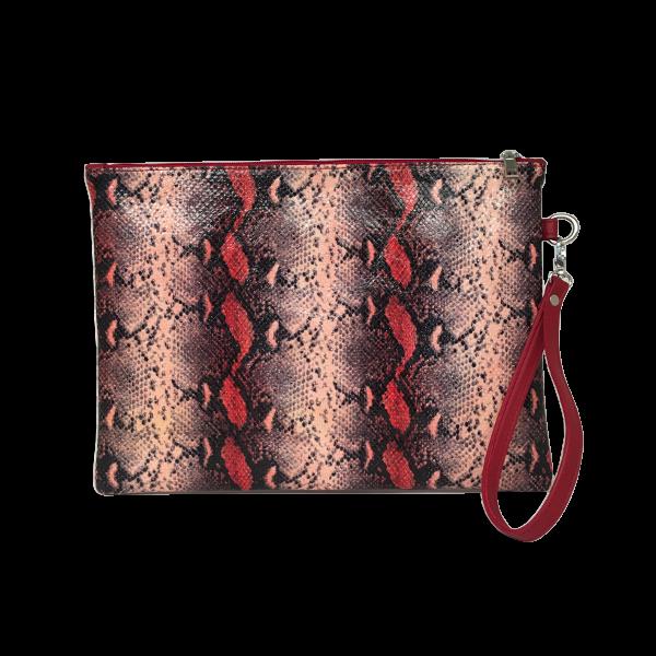 Stor Clutch i lækkert farverigt lammeskind - Unika taske fra Cosystyle