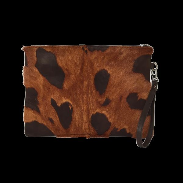 Ipad/tablet skindtaske i lammeskind med pels - Unika taske fra Cosystyle
