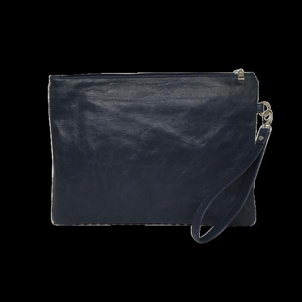 Blå Ipad skindtaske i lammeskind - Unika taske fra Cosystyle