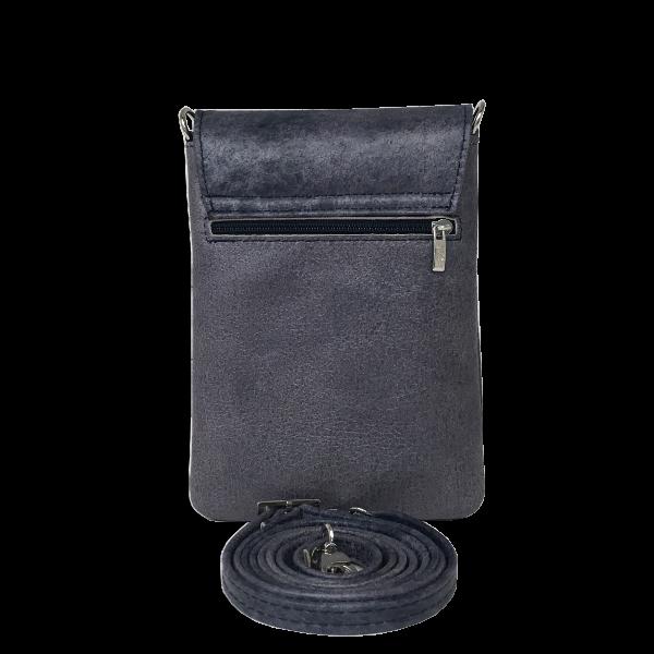 Denim blå mobiltaske i dejlig blødt lammeskind - Unika taske fra Cosystyle