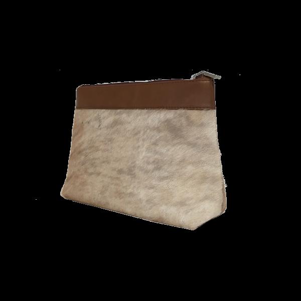 Lækker makeup taske i gedeskind - Unika skindtaske fra Cosystyle