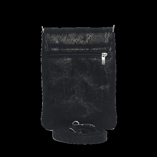 Smuk sort mobiltaske i elagant skind - Unika taske fra Cosystyle