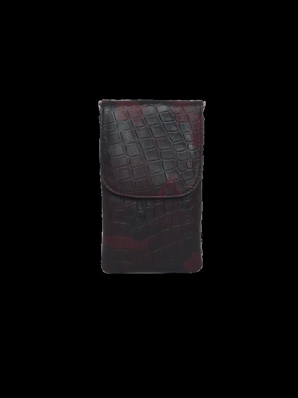 Lækker crossover mobiltaske i bordeaux nuancer - Unoka taske fra Cosystyle