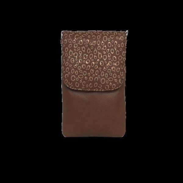 Elegant mobiltaske med guld spots - Unika tasker fra Cosystyle