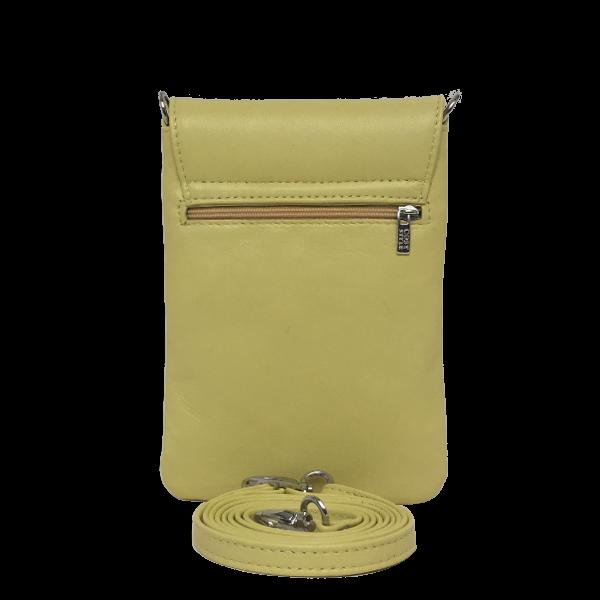 Fantastisk smuk gul crossover mobiltaske i glat lammeskind - Unika tasker fra Cosystyle