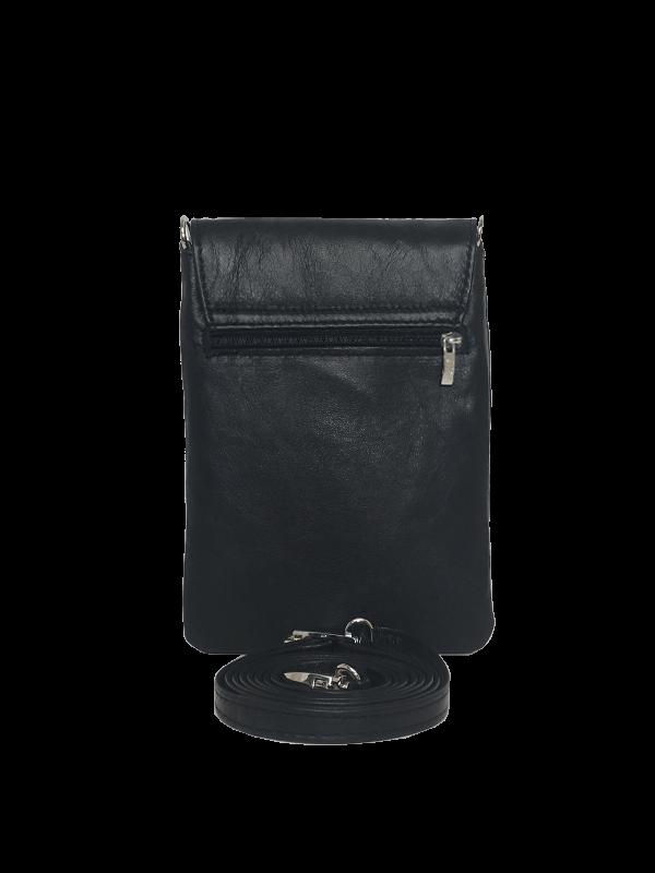 Elegant sort mobiltaske i lammeskind - Unika tasker fra Cosystyle