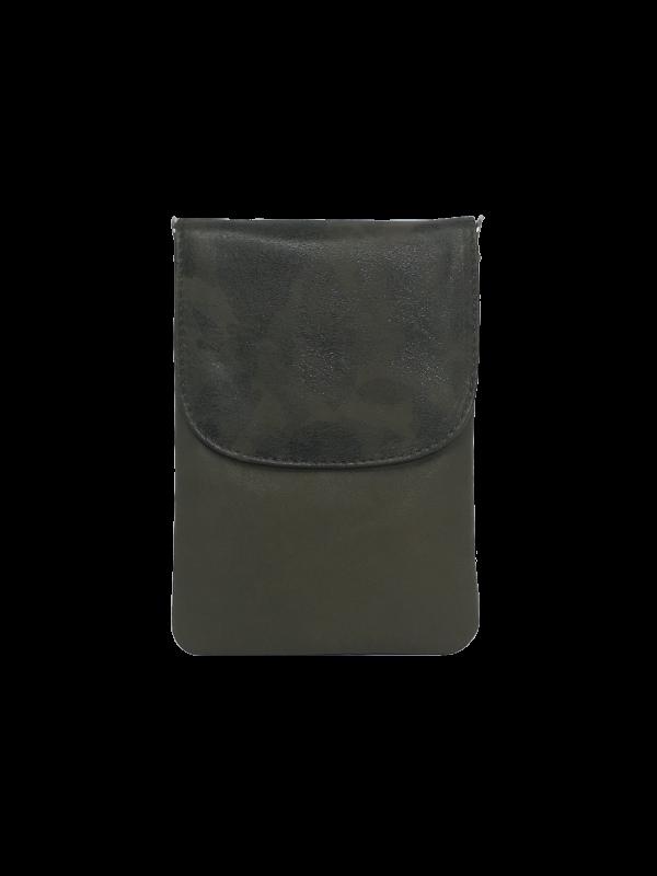 Army grøn mobiltaske i lammeskind - Unika tasker fra Cosystyle