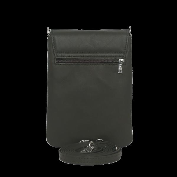 Militærgrøn mobiltaske i lammeskind - Unika tasker fra Cosystyle
