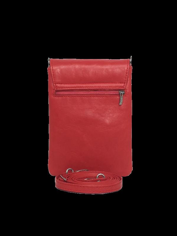 Super flot mobiltaske i koral rød - Skindtaske - Unika taske fra Cosystyle