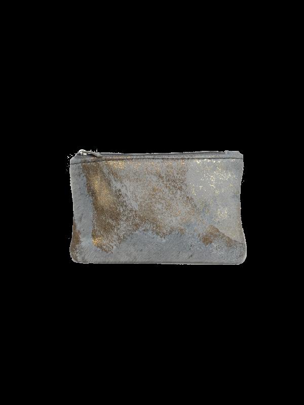 Flot lille pung til kort og penge i guld look - Unika taske fra Cosystyle