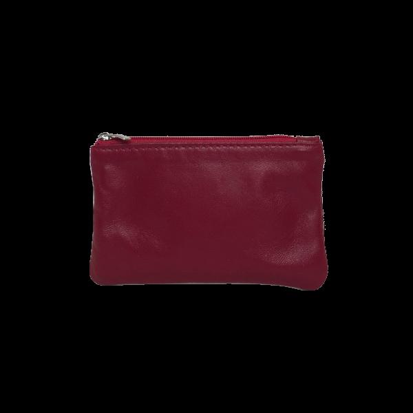 Flot rød pung i lækkert lammeskind - Skind fra Cosystyle