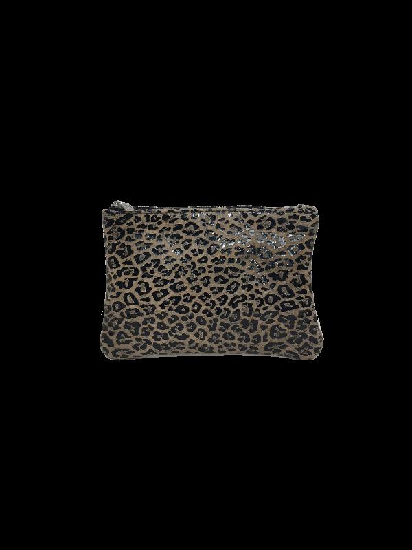 Flot lille pung med dyreprint i lammeskind - Unika fra Cosystyle
