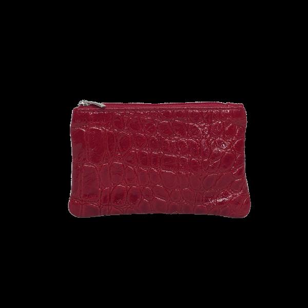 Flot lille rød pung i lammeskind - Unika fra Cosystyle