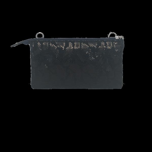Mørkeblå crossover clutch i elegant design - Unika skindtaske fra Cosystyle