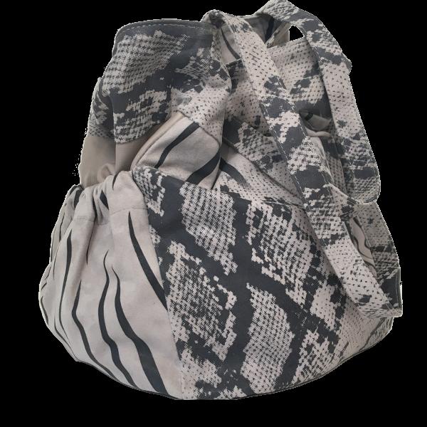 Unik shopper i grå nuancer - Unika skindtasker fra Cosystyle