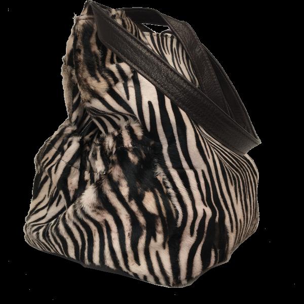 Smart skuldertaske med tiger look i gedeskind - Unika taske fra Cosystyle