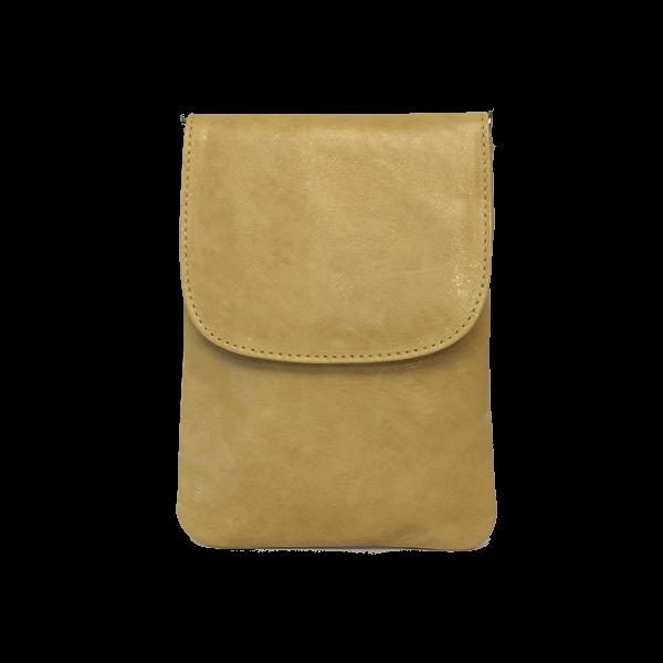 Smart crossover mobiltaske i gul - Unika skindtaske fra Cosystyle