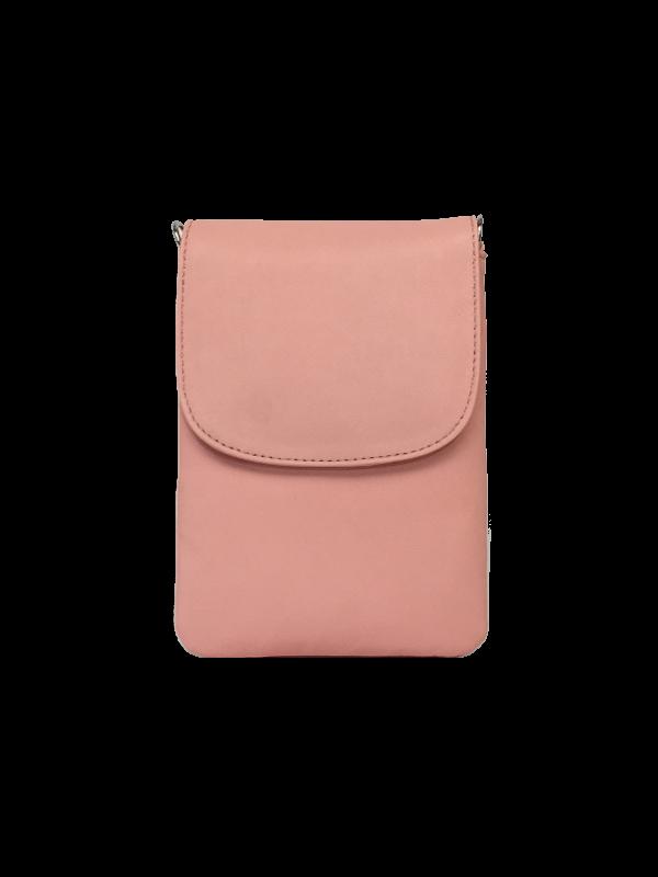Smuk crossover mobiltaske i sart lyserød nuance - Unika skindtaske fra Cosystyle
