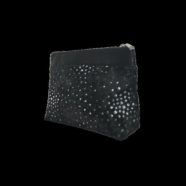 Smuk sort Makeup taske i gedeskind - Unika skindtaske fra Cosystyle