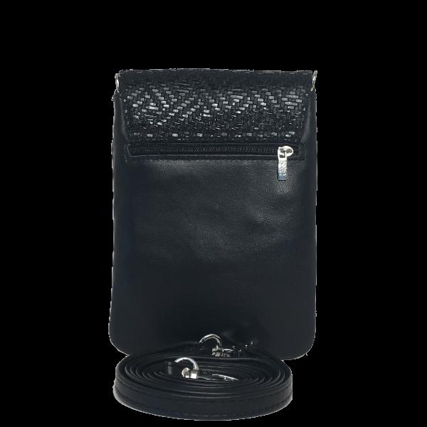 Flot crossover mobiltaske i sort lammeskind - Unika skindtaske fra Cosystyle