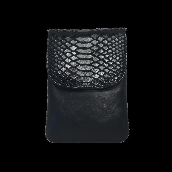 Crossover mobiltaske i sort lammeskind - Unika skindtaske fra Cosystyle