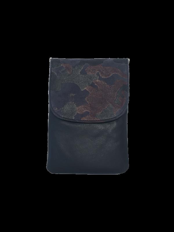 Crossover mobiltaske i mørkeblåt lammeskind - Unika skindtaske fra Cosystyle