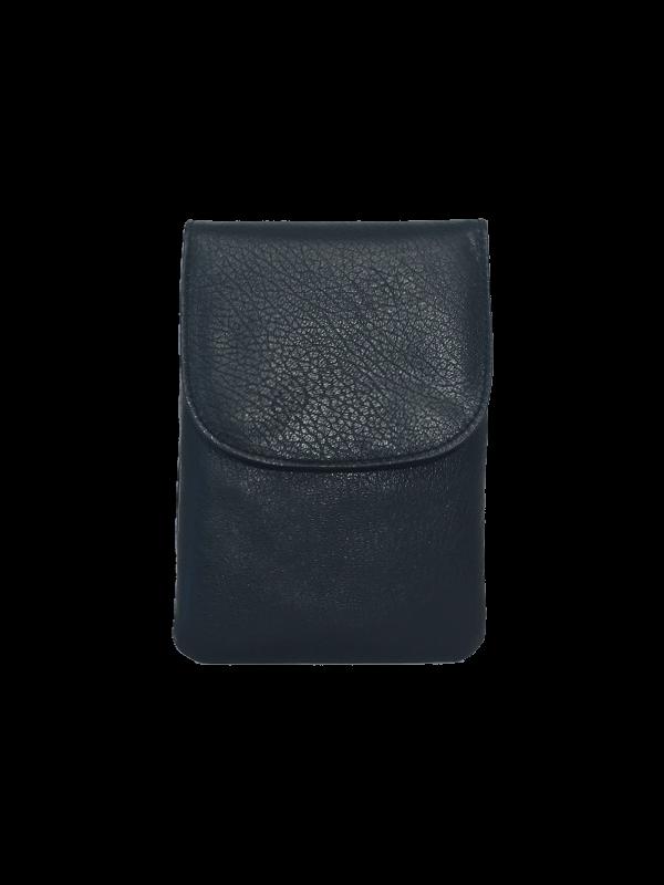 Dejlig blød mørkeblå crossover mobiltaske - Unika skindtaske fra Cosystyle