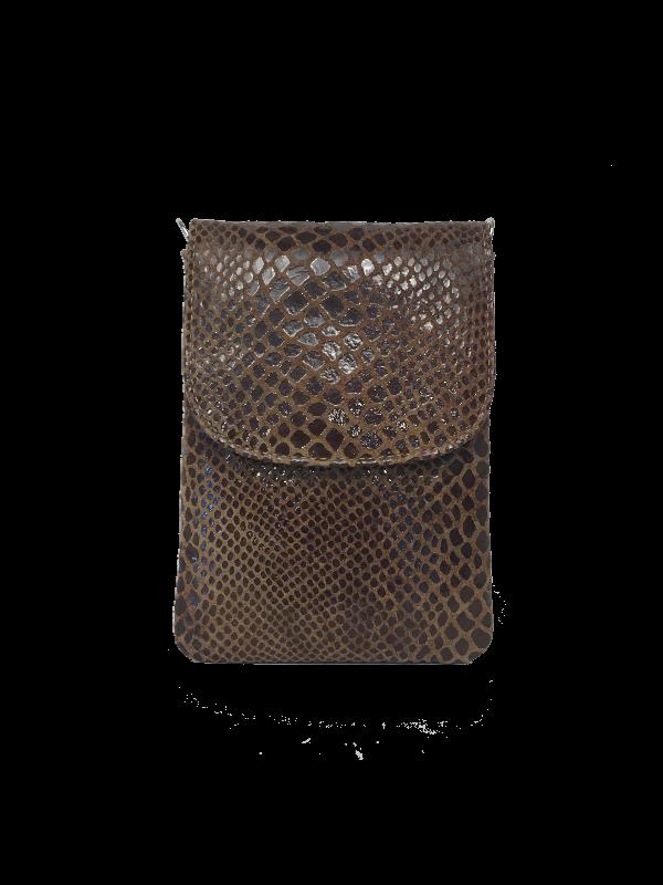 Cool crossover mobiltaske i brune nuancer - Unika skindtaske fra Cosystyle